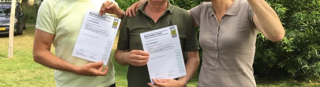 Karel Cornegoor en Thomas van Hardeveld gecertificeerd voor bosmaaien